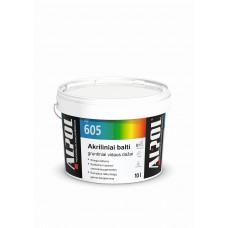 Balti akriliniai-gruntiniai dažai luboms ir sienoms ALPOL AF 605 10L