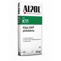 Gipso-kartono plokščių klijai T ALPOL AG K11 20 Kg