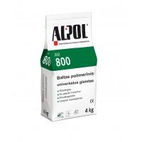 Baltas polimerinis išlyginamasis glaistas  ALPOL Putz S AM 800 4 Kg