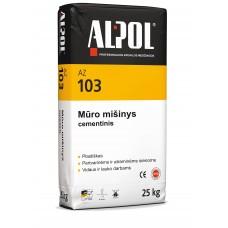 Cementinis mūro mišinys ALPOL AZ 103 25 Kg