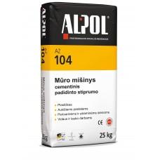 Cementinis mūro mišinys ALPOL AZ 104 25 Kg (PADIDINTO STIPRUMO)