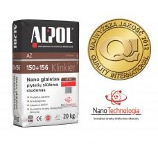 NANO-glaistas klinkerio siūlėms nuo 3 iki 10 mm ALPOL AZ 153 20 Kg (RAUDONAS-SMULKIAGRŪDIS)