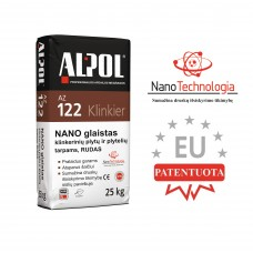 Rudas nano-mišinys klinkerio plytelių siūlių glaistas ALPOL AZ 122 25 Kg (STAMBIAGRŪDIS)