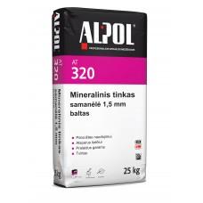 Mineralinis tinkas samanėlė 1,5 mm ALPOL AT 320 25 Kg (BALTAS)